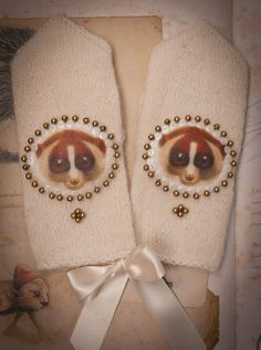 girl´s wool gloves www.facebook.com/AnuKaelussooDesign