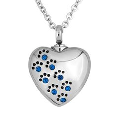 Chris Johnsons Heart Love Dog Paw Print Pet Memorial Urn Necklaces For Ashes >>> See this great product. (This is an affiliate link and I receive a commission for the sales) #Doggies