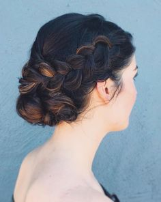 Side+Braid+And+Low+Bun+Updo