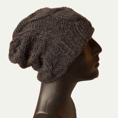 Cable knit hat, men knit hat, beanie hat men