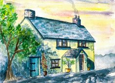 """The Cottage""  Visit my Etsy shop: www.sweetpeafineart.etsy.com View my artist website: www.sweetpeafineart.com"