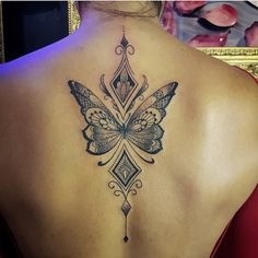 tattoos for women private parts Tattoo Girls, Girl Back Tattoos, Back Tattoo Women, Girly Tattoos, Cute Tattoos, Tattoos For Women, Butterfly Mandala Tattoo, Flower Wrist Tattoos, Flower Tattoo Back
