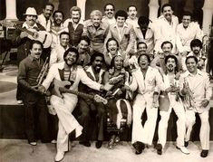 """Fania All-Stars""  All the people in the picture are the Performers who revolutionized Salsa especially in America beginning in the 1960's."
