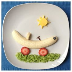 Banana Mobile Vrooom | Paleo Kids Creative Meal Art Ideas | Thanks to Gabriela Fischer of Fun Meals 4 Kids for these terrific food sculptures featuring bananas and other nuritious & delicious foods! Gabriela is devoted to promoting nutrition education & healthy lifestyles, including coming up w/ amazingly fun ways to get kids to eat more fruits & veggies. For still more great photos displaying Gabriela's creative culinary genius, visit: Fun Meals 4 Kids on Facebook.