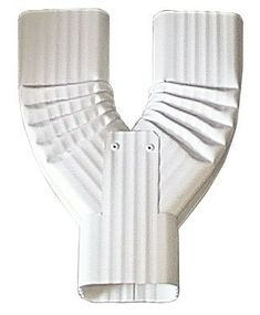 Y Downspout Funnel for Rectangular Downspouts (2x3, Low Gloss White) ** Details can be found by clicking on the image.