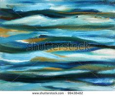 Original abstract oil painting on canvas. - stock photo