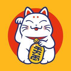 Check out this awesome 'Lucky+cat+-+Maneki-neko' design on Cat tattoo – Top Fashion Tattoos Maneki Neko, Neko Cat, Kitty Cats, Lucky Cat Tattoo, Badges, Pembroke Welsh Corgi Puppies, Cat Tattoo Designs, Make Tattoo, Tattoo Art