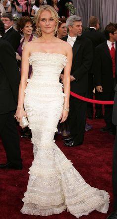 Diane Kruger in Elie Saab at the Academy Awards in 2006   - HarpersBAZAAR.co.uk