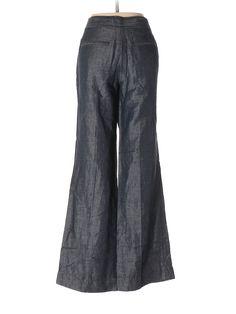 Ann Taylor LOFT Dress Pants: Size 8.00 Dark Blue Women's Bottoms - $15.99