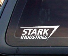 Stark Industries Car Decal / Sticker - http://coolgadgetsmarket.com/stark-industries-car-decal-sticker/