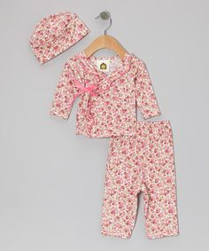 Take a look at this Pink Lil Liberty Baby Organic Wrap Top & Pants - Infant by Barn Organics on #zulily today!
