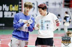 Bts jin & monsta x jooheon Monsta X Jooheon, Shownu, Hyungwon, Kihyun, Winwin, Got7, Bts Facebook, Twitter Bts, Show No Mercy