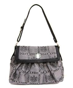 Take a look at this Gray Signature Tote by LYDC London on #zulily today!