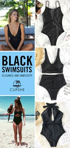 Timeless black~ Everyone needs at least one great black swimsuit. Black mesh splicing super glamorous! FREE shipping~ Shop Now!