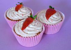 Receta de cupcakes de fresa.