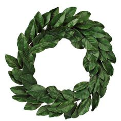 Green Magnolia Leaf Wreath, 30 in. ($40) ❤ liked on Polyvore featuring home, home decor, floral decor, outside home decor, outdoor wreaths, branch wreath, green wreath e spring home decor
