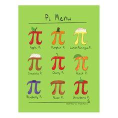 Shop Pi Menu Cute Math Pi Day Postcard created by NicePuns. Math Decorations, Thanksgiving Door Decorations, Thanksgiving Messages, Thanksgiving Math, Pi Jokes, Psalm 95, Early Childhood Activities, Mini Quilt Patterns, Math Tutor