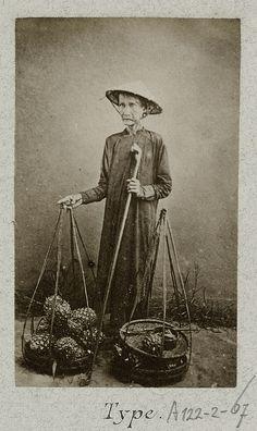 Portrait of a Vietnamese woman with loose yoke 1888