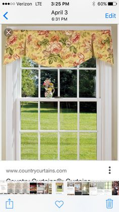 Moire Stripe Scalloped Valance - Country Curtains® | Kitchen ...