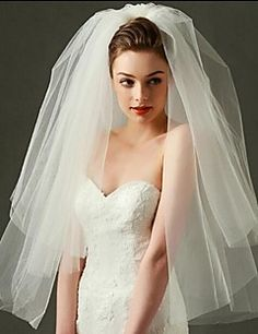 Image result for medium two tier veil
