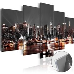 Cityscape New York Canvas Wall Art Decor Picture Print Design Wall Art Painting Decor Decorations for Home Artwork Pictures Bedroom Scenery Pictures, Artwork Pictures, Pictures To Paint, Print Pictures, Photos, Kids Room Wall Art, Wall Art Decor, Wall Art Designs, Wall Design