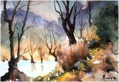 Cennetten Bir Köşe #watercolor #orijinal https://www.zet.com/urun/suluboya-resim-cennetten-bir-kose-k39-308398