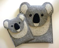Koala iPad mini 1 2 3 4 felt case от BoutiqueID на Etsy