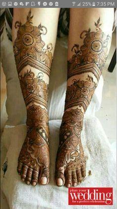Mehendi by Shalini Gagneja, Bridal Mehndi Artist in Delhi Dulhan Mehndi Designs, Mehandi Designs, Mehendi, Leg Mehndi, Mehndi Designs Feet, Legs Mehndi Design, Mehndi Design Pictures, Unique Mehndi Designs, Wedding Mehndi Designs