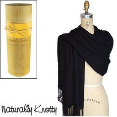 Naturally Knotty Luxurious Wraps,100% Bamboo Fiber, Black by Naturally Knotty. $42.99. Soft, natural and eco-friendly, these luxurious wraps are made from renewable bamboo.  These generously sized and lightweight wraps will finish any outfit. Made from 100% sustainable natural bamboo, they will not pill or fade and are extraordinarily soft.  Bamboo is an all-season fabric that will breathe in the summer and keep you warm in the winter. Packaged in a biodegradable and reusable ba...