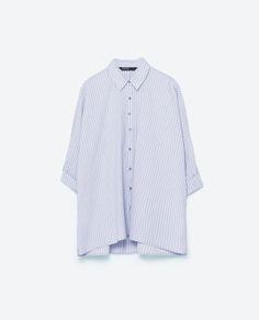Image 6 of OVERSIZED STRIPED SHIRT from Zara