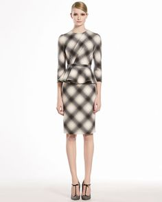 Check Flannel Flounce Dress by GUCCI at Neiman Marcus.