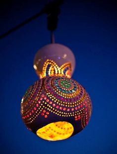 DIY - How to make a Magical Gourd Light!.. http://thecraftcouch.blogspot.com.au/2012/05/week-18-gourd-lights-part-1.html  <-Tutorial : these would make Magickal Gourd Fairy houses as well Perfect for The Fall  and Halloween Decoration Styles