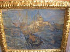 Venezia con vista su San Giorgio di Giacomo Caramel. www.antichitapietrolupi.com