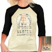San Francisco Giants 2014 World Series Champions Women's Burnout Raglan T-shirt by Majestic Threads - MLB.com Shop