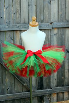 Holly Jolly Christmas Tutu Red and Green Tutu Christmas Elf Costume, Christmas Tutu Dress, Christmas Sweaters, Christmas Crafts, Grinch Costumes, Halloween, Diy Tutu, Green Tutu, Elf Clothes