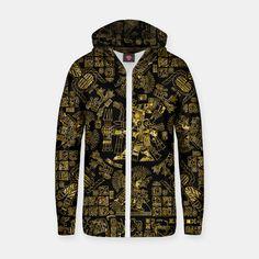 Mayan Spring GOLD Zip up hoodie, Live Heroes