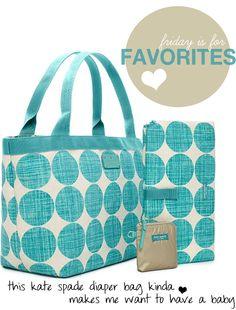 Kate Spade bags.  Love the fabric.