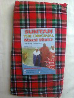 Kenya Bed linen-African Masai Maasai bedcover(bed spread)Green white red 28455d793d