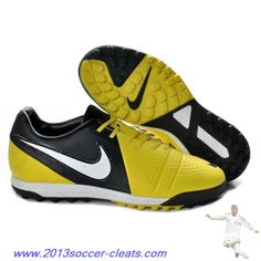 966a933f6071 Cheap Men Nike CTR360 Libretto III TF Turf Yellow Black White For Wholesale  Crampons Football