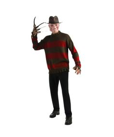 Freddy Krueger Deluxe Sweater Adult. #freddyfrueger #halloween    http://www.costumebox.com.au/adult-costumes/mens-costumes/freddy-krueger-deluxe-sweater-adult.html