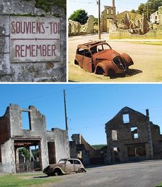 June 10, 1944 is, for the people of France, a day that will truly live in infamy All 642 people of the village of Oradour-sur-Glane were massacred by soldiers of the Waffen SS, who subsequently razed the entire town. Those who died that day ranged in age from one week to 90. Following the war, French president Charles De Gaulle declared Oradour-sur-Glane to be a Village Martyr. The ruins of the village have been preserved and visitors are asked to remain silent until they have left.