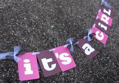 Its a Girl Banner for Baby Shower or Decoration in by BananaLala, $15.00