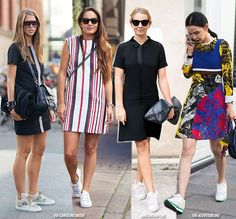 Transitional Looks: Dress + Sneakers