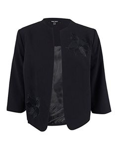"""Product review for Nine West Women's Plus-Size Floral Embroidered Blazer 20W, Black.  - Blazer features open front, long sleeves and no collar.       Famous Words of Inspiration...""""The man of wisdom is never of two minds; the man of benevolence never worries; the man of courage is never afraid.""""   Confucius — Click here for..."""