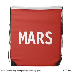 Enjoy a new drawstring bag from Zazzle. Use it to hold your gym gear or carry snacks & water for a hike. Gym Gear, Mars, Drawstring Backpack, Backpacks, Journey, Travel, March, Backpack, The Journey