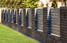 Shades of Bronze House Fence Design, Front Wall Design, Exterior Wall Design, Wood Fence Design, Modern Fence Design, Flat Roof House Designs, Garden Sitting Areas, Compound Wall Design, Boundary Walls