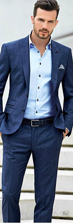 14 best business suits men images clothes for men, bow tie suit  roy robson ss 2015 ○ adam cowie ~ t��� blue suit light blue shirt, blue