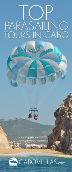Parasailing is a great way to see the sights in Cabo San Lucas, Mexico above the beautiful blue Sea of Cortez. Here is our pick for top parasailing tours in Cabo. Vacation List, Vacations To Go, Mexico Vacation, Mexico Travel, Dream Vacations, South America Destinations, Cabo San Lucas Mexico, Baja California Sur, Cruise Travel
