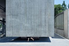 Japanese studio Suppose Design Office has built a monolithic concrete toilet alongside the Sendagaya Station near Tokyo's Olympic stadium. Concrete Facade, Concrete Wall, Fumihiko Maki, Toilet Wall, National Stadium, Tokyo Olympics, Small Buildings, Facade Architecture, Dezeen