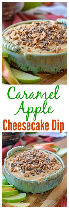 Apple Caramel Cheesecake Dip. TO DIE FOR. Perfect for apple picking season!